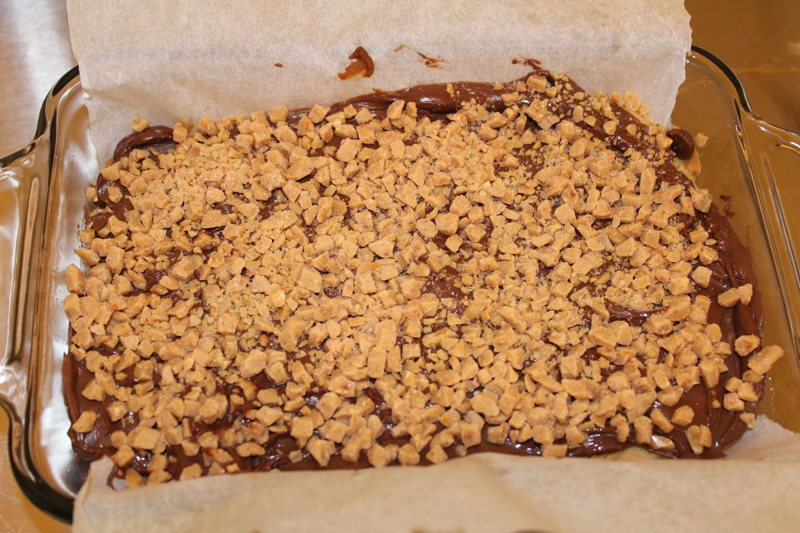 Chocolate Toffee Mini Bars