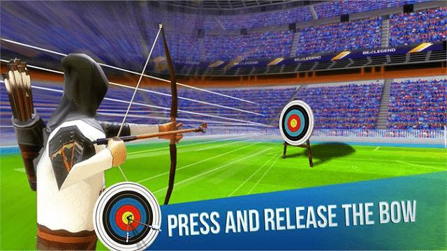 belajar memanah melalui game archery king