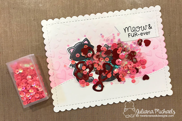 Shaker Card Tutorial by Juliana Michaels featuring Newton's Nook Designs