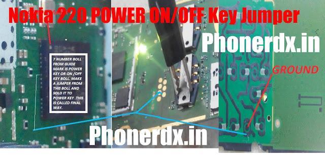 Nokia 220 Power Key On  Off Problem Jumper Solution Ways