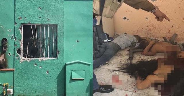 """VIDEO.- Circula grabacion de """"Pelotera"""" entre Sicarios vs Grupo Reacción Sureste donde, les disparan atrincherados desde casa."""