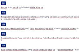 Contoh Soal Kerajaan-kerajaan Islam di Indonesia