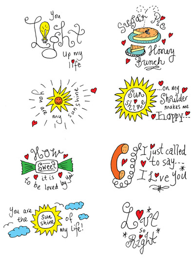 Hand Drawn Love Messages Printable Preview
