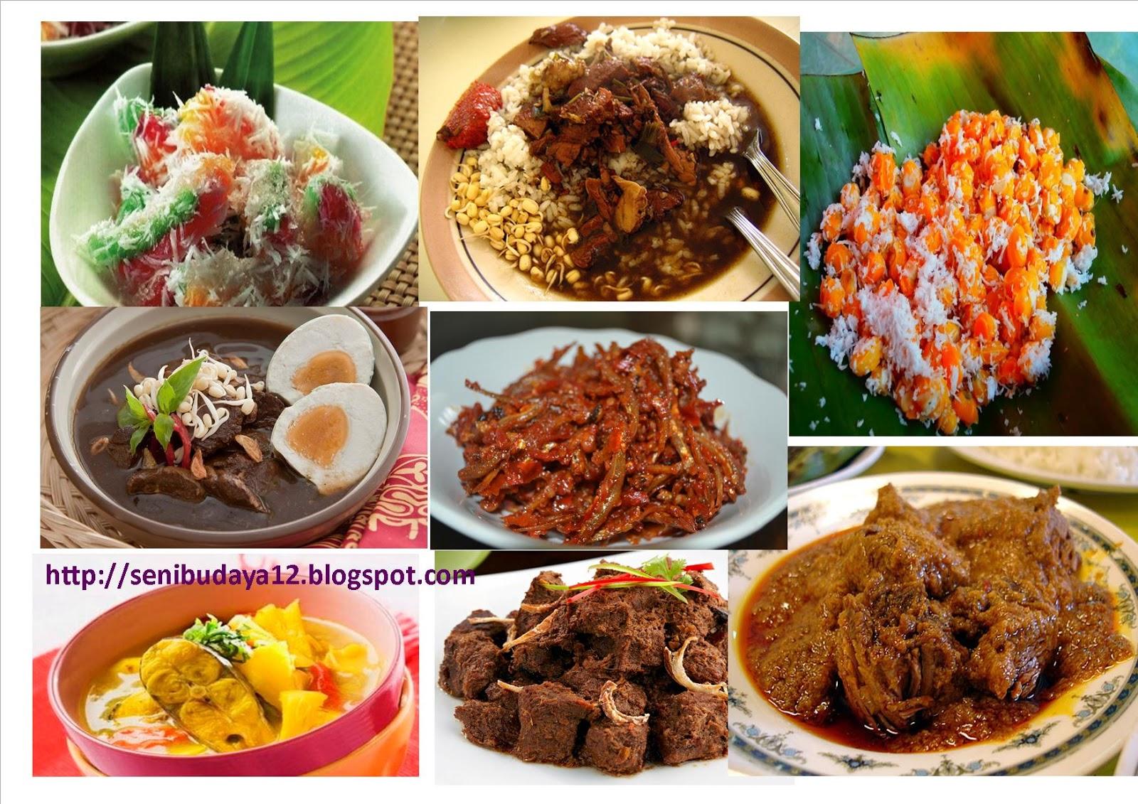Seni Budaya Kliping Gambar Dan Nama Makanan Tradisional Suku