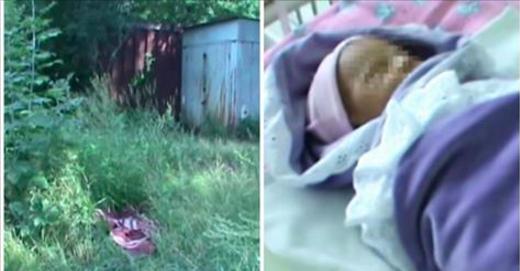 Une femme est choquée lorsqu'elle trouve un bébé allongé dans l'herbe. Quand les médecins le déshabillent, ils font une découverte bouleversante.