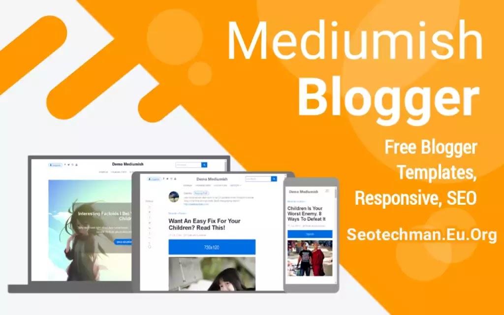 Download Template Mediumish Terbaru Versi Blogger v1.4
