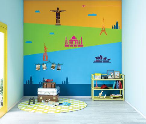 لون الحائط الجدار غرفة الاطفال