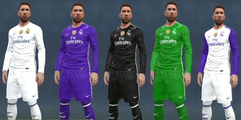 92471ad3060 PES 2017 Pacote de Kit do Real Madrid 16/17 - Pes Evolution HD