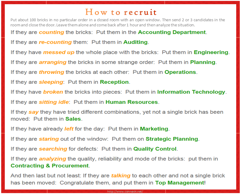Tugla Testi ve Zurafa - Fil - Buzdolabi - How to recruit