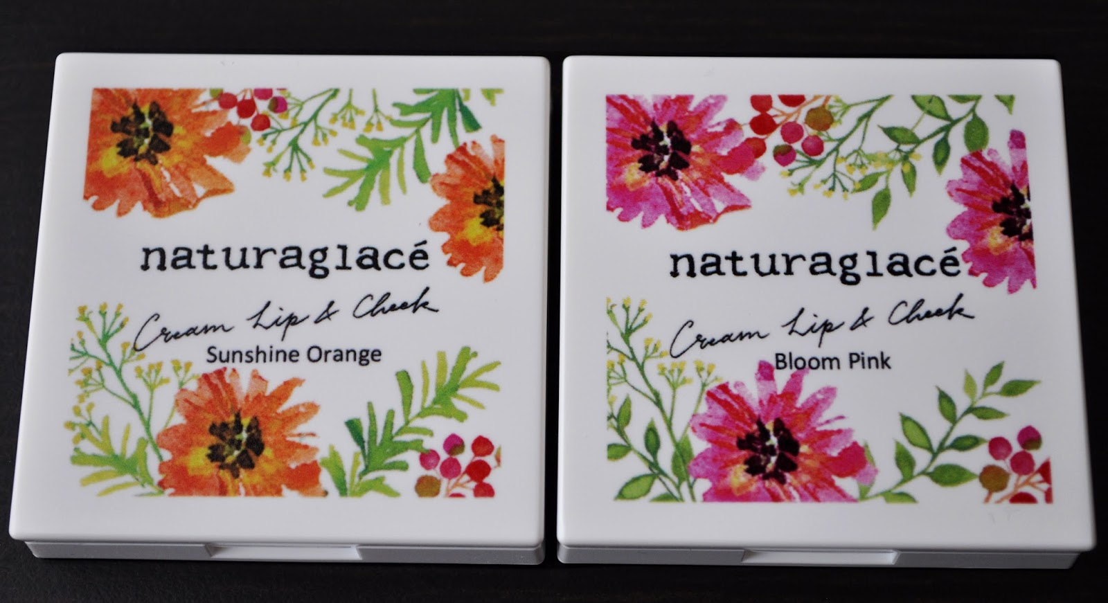 Nature Is A Language...Naturaglace Sunshine Orange EX01 and Bloom Pink EX02 Cream Lip & Cheek