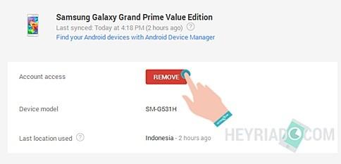 Cara Menghapus Gmail di Perangkat Lain