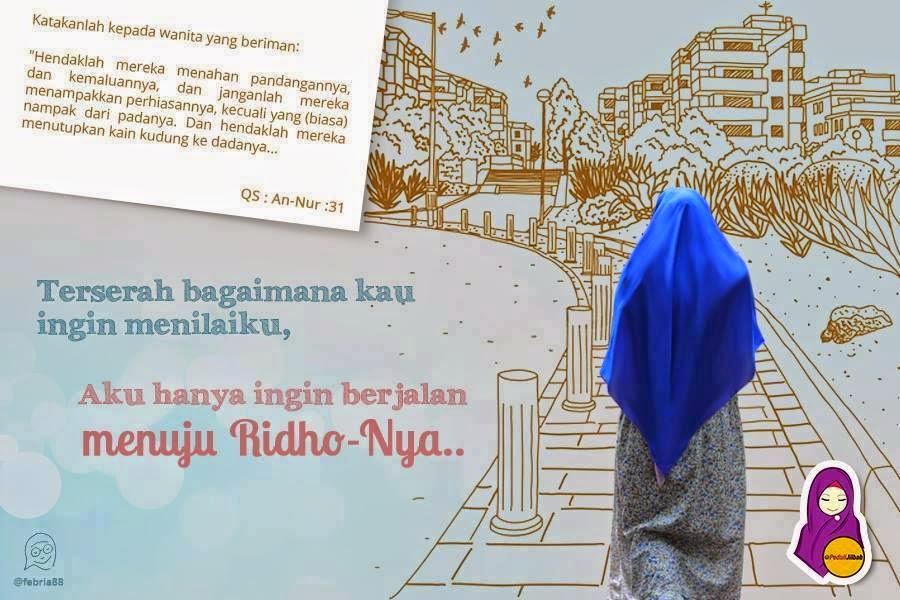 Kumpulan DP BBM Gambar Muslimah Berhijab Syari  Keindahan