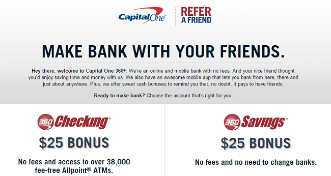 Capital One Checking Account: Available Nationwide No hidden fees or minimums as you earn interest on your everyday money 38, fee-free Allpoint® ATMAutomatic Teller Machines and 2, Capital One® ATMs Free MasterCard® Debit Card for all purchases Mobile Deposit Opens a new window & one checkbook's free Stay covered with overdraft protection: Set up Free.