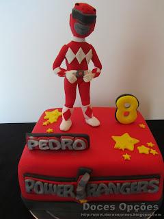 bolo aniversário Power Rangers bragança