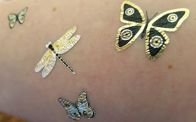 Fresh temporary metallic tattoos