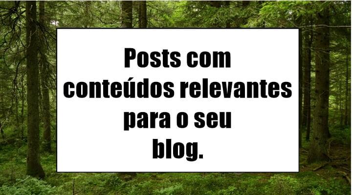 Conteúdos para blogs