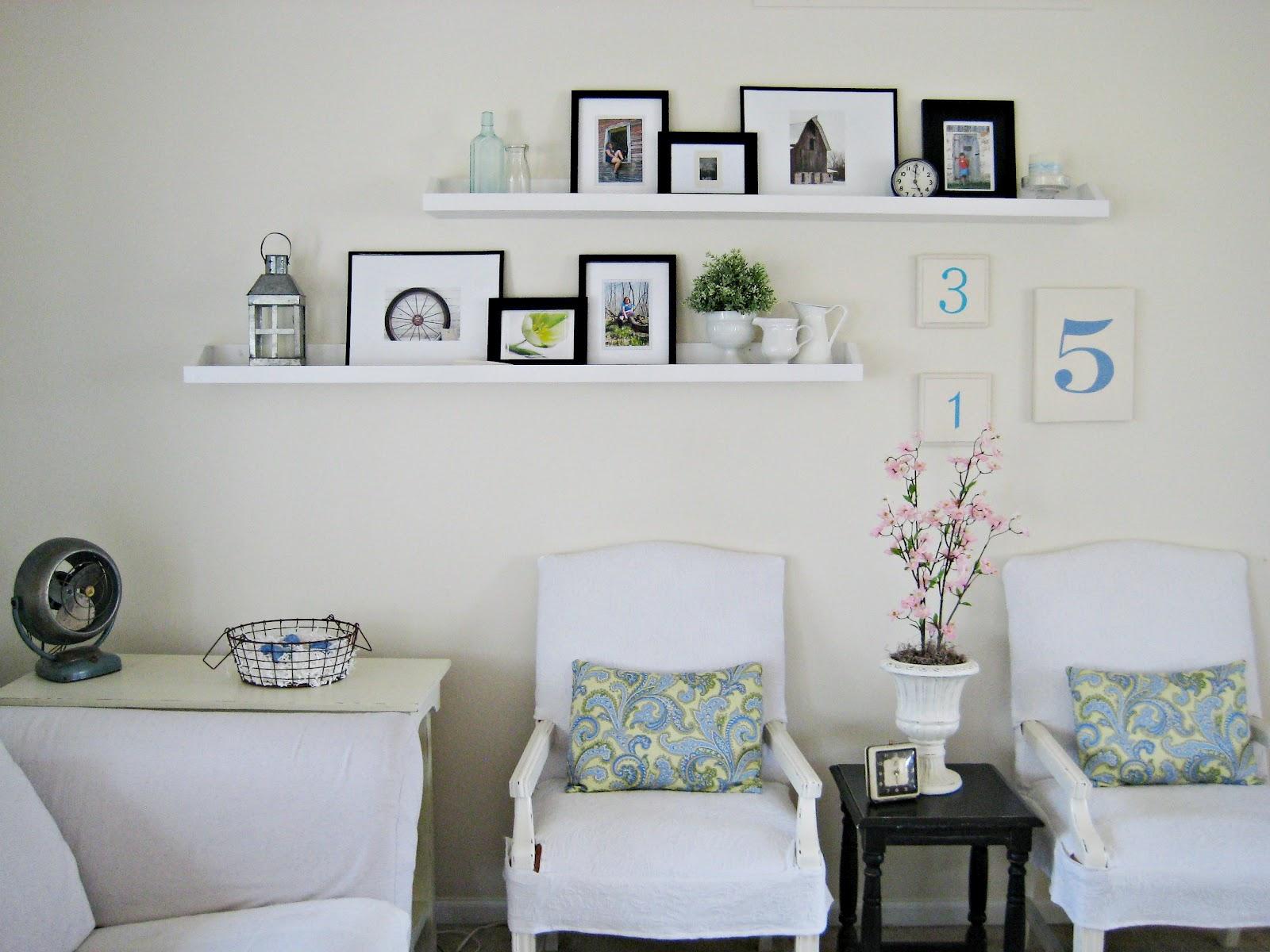 Happy at home diy photo ledge - Living room shelf ideas ...