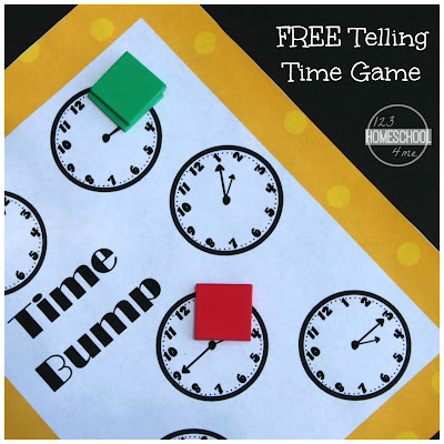 Telling Time Clock game for 1st grade 2nd grade