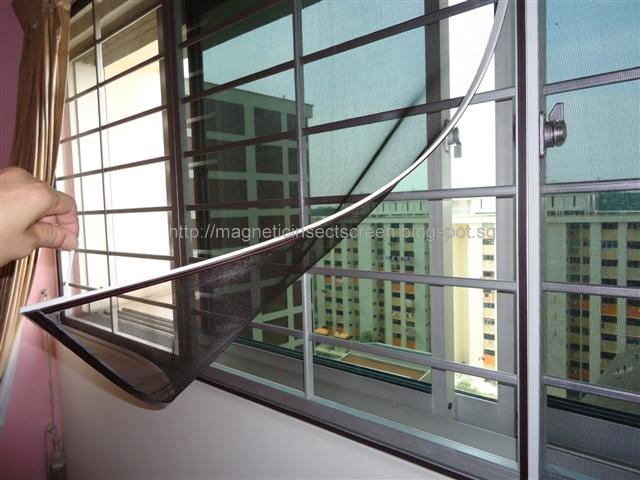 Diy Magnetic Insect Screen Singapore Installation On 01