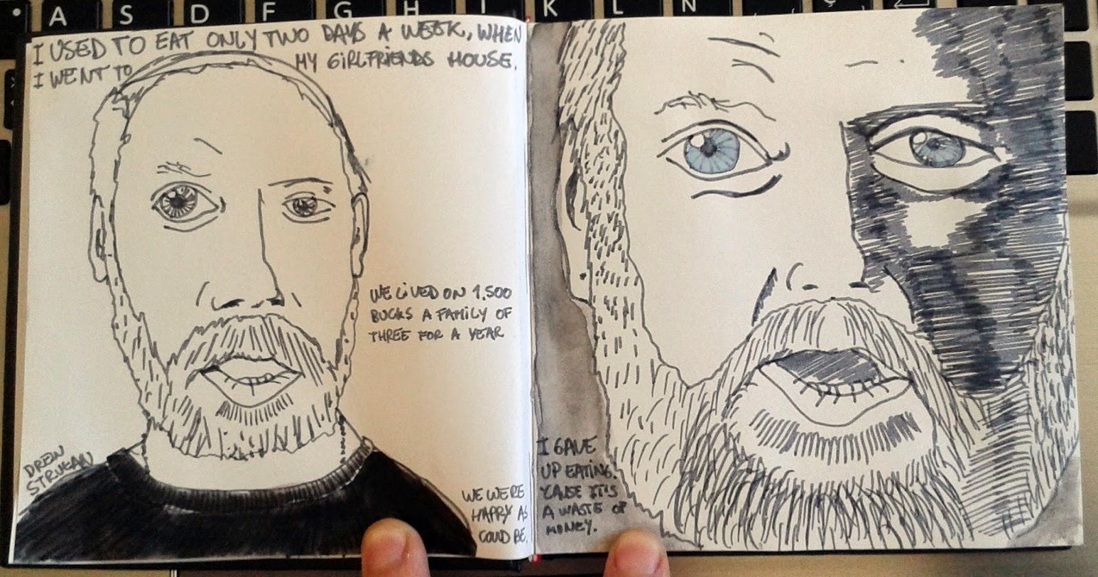 dibujante creador de alguna de las mejores portadas de discos y posters de pelculas mientras lo vea me entr el gusanillo de dibujarle