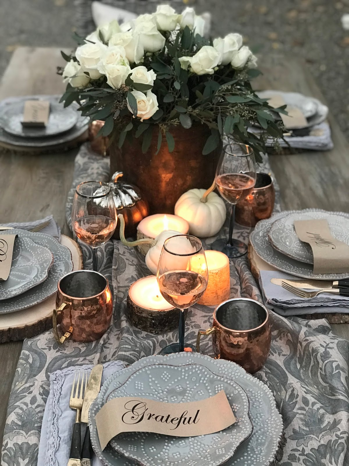 Fall grateful, blessed printables for table