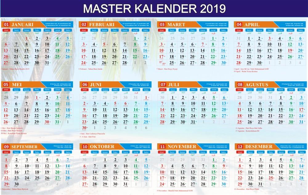 Download Vector Kalender 2019 Free
