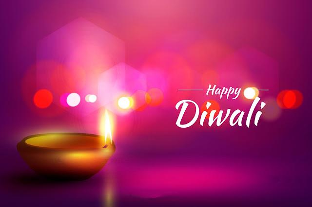 Beautiful Diwali Greeting cards with diyas