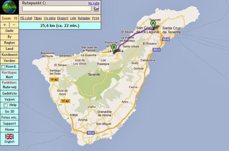 Vandre Dagbog Ankomst Til La Orotava Pa Tenerife