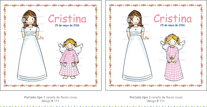 Modelos portadas Libro Comunión firmas recuerdos personalizado original
