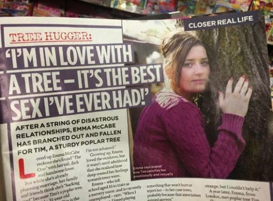 Emma McCabe falls in love with a tree after going through a series of heart break