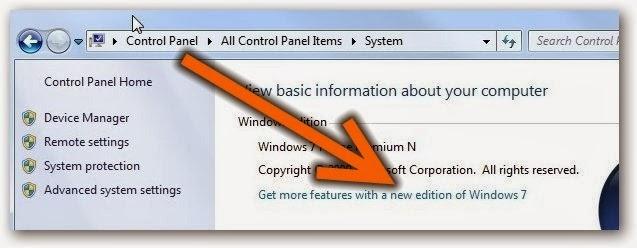 Upgrade Windows 7 Starter