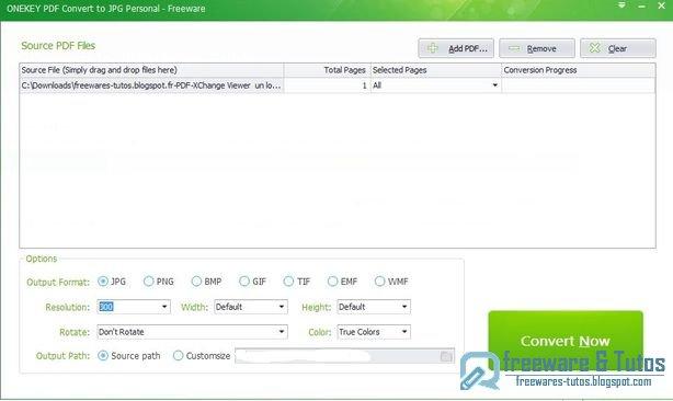 ONEKEY PDF Convert to JPG : un logiciel gratuit pour convertir les PDF en images