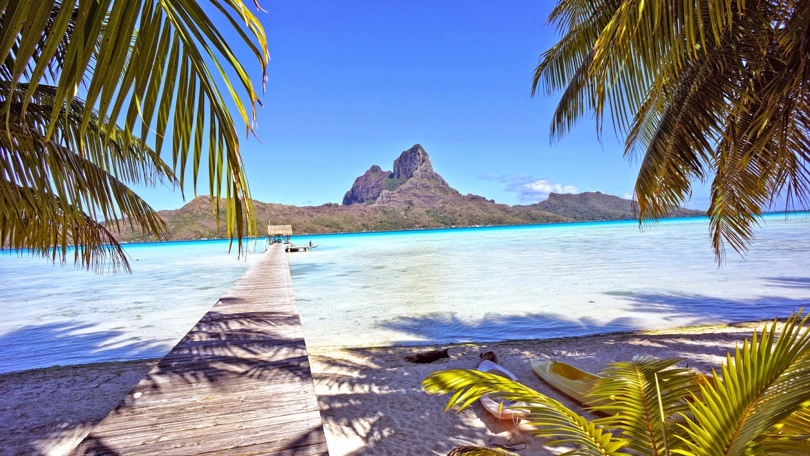 Another view from Eden Beach on Bora Bora, one of the world's best beaches