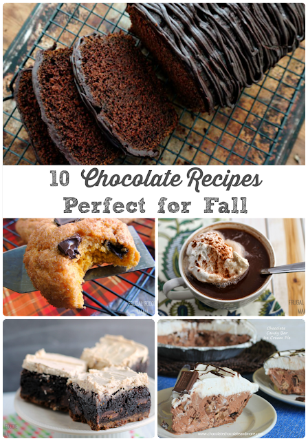 From perfectly spiced to pumpkin infused to chocolate candy filled, you are sure to find a chocolate dessert recipe today to celebrate fall in these 10 Chocolate Recipes Perfect for Fall.