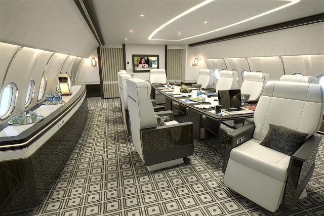 Airbus Corporate Jet ACJ330 Cabin Interior Spacious Inside