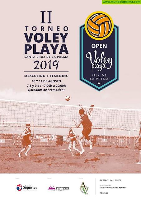 El II Torneo de Voley Playa de Santa Cruz de La Palma se disputará los días 10 y 11 de agosto