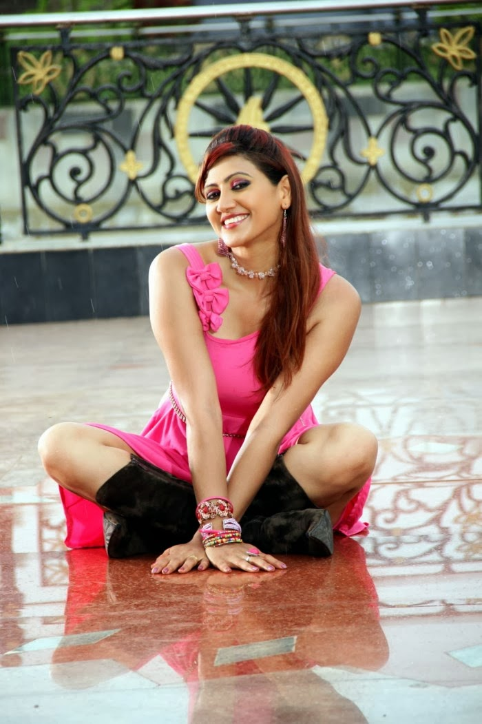 Rishika Singh hot pics in pink dress, Rishika South actress photos