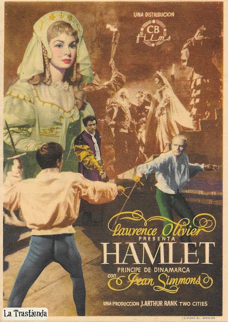 Programa de Cine - Hamlet, Príncipe de Dinamarca - Laurence Olivier - Jean Simmons