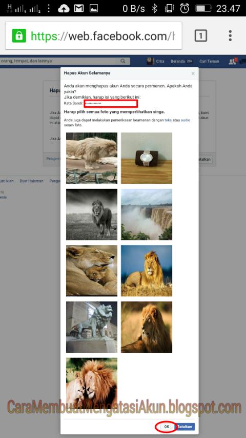 Cara Menghapus Akun Facebook Lewat Hp Permanen Sementara