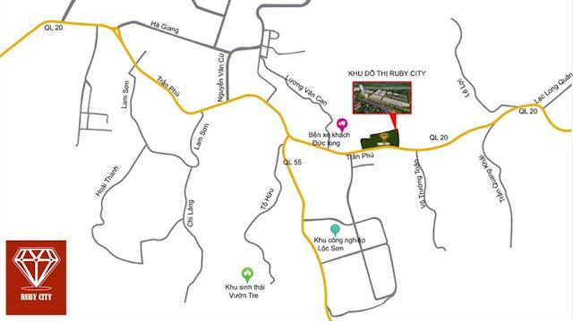 Ruby City Vị trí đắc địa – Cửa ngõ vào Thành phố