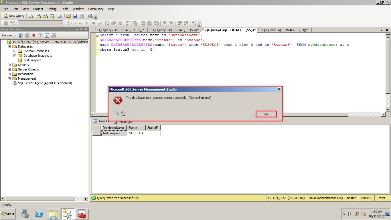 Spotlight on SQL Server - Sandeep's Blog: Determine T-SQL to