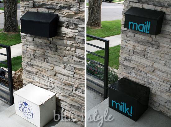 vinyl mailbox, milk box, silhouette cameo project ideas