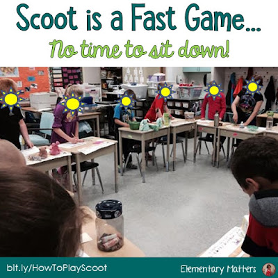 Active Students? Try Scoot! The game, Scoot, can be played a number of ways for a variety of reasons. Here are the basics of the game, a few suggestions, and a freebie!
