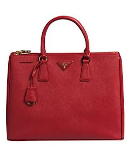 Prada Authentic Bag-Red Fuoco Saffiano Lux Calf Leather Handbag