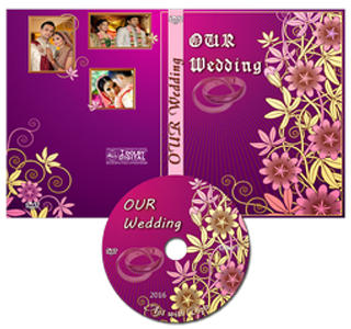 Wedding DVD Cover Psd