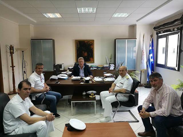 Εθιμοτυπική επίσκεψη του νέου Διοικητή της 3ης Περιφερειακής Διεύθυνσης Λιμενικού στο Δημαρχείο Ηγουμενίτσας