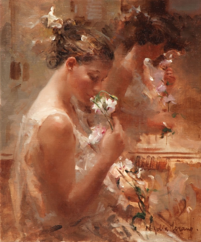 Nydia Lozano 1947 | Spanish Impressionist Figurative painter