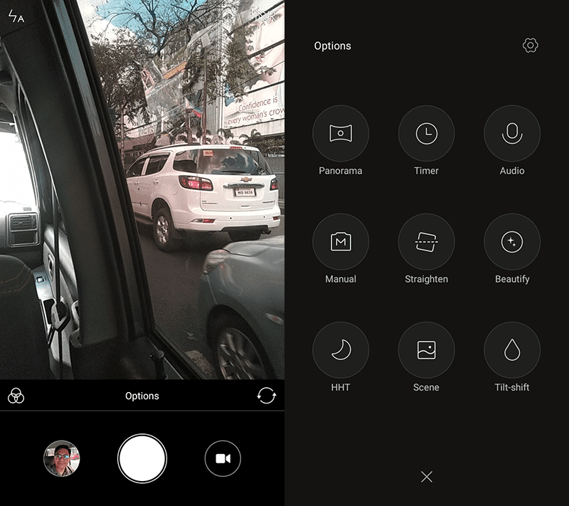 The camera modes