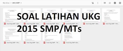 Kumpulan Soal Latihan UKG 2015 SMP/MTs