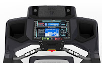 Treadmill console with blue backlit LCD display, image, example on Treadmill Buying Tips